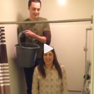 Ice bucket challenge Amy Sheldon