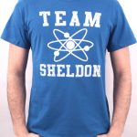 t shirt big bang theory team sheldon bleu