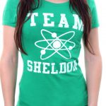 t shirt femme big bang theory team sheldon vert