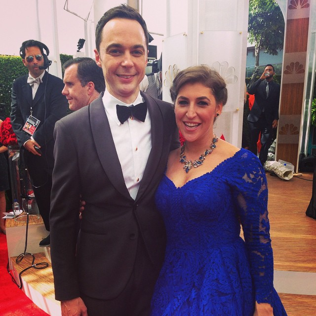 Sheldon Cooper et Amy aux Emmy Awards