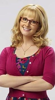 Bernadette (Melissa Rauch) de profil