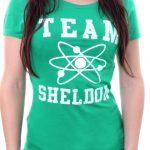 t shirt femme big bang theory team sheldon vert