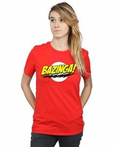 T-shirt bazinga femme